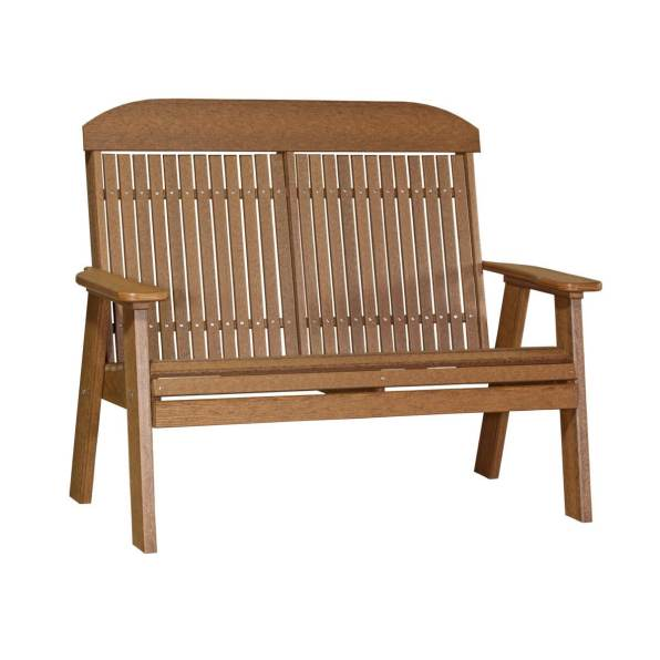LuxCraft Poly Classic Bench 4' Antique Mahogany