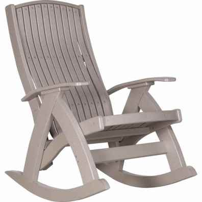 LuxCraft Poly Comfort Rocker Weatherwood