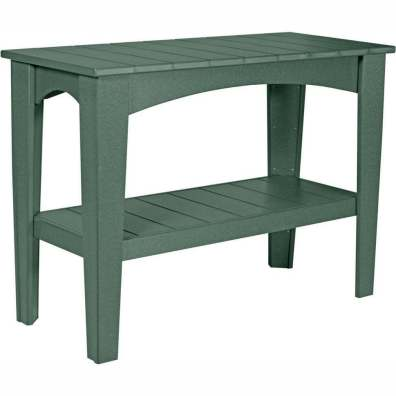 LuxCraft Poly Island Buffet Table Green