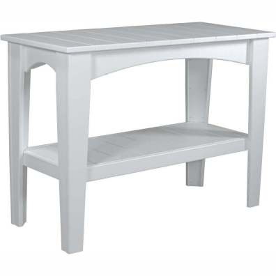 LuxCraft Poly Island Buffet Table White
