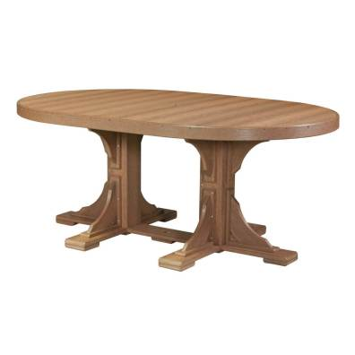 LuxCraft Poly 4x6 Oval Table Antique Mahogany