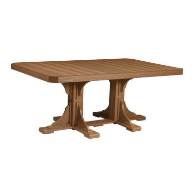LuxCraft Poly Rectangular Table 4x6 Dining Antique Mahogany