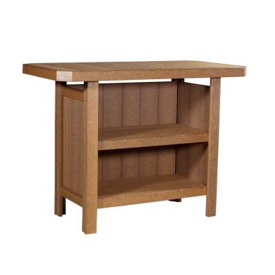 LuxCraft Poly Serving Bar Antique Mahogany