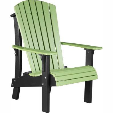 LuxCraft Poly Royal Adirondack Chair Lime Green & Black