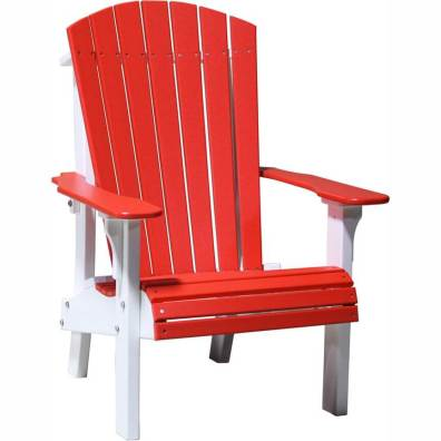 LuxCraft Poly Royal Adirondack Chair Red & White