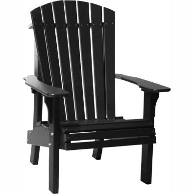 LuxCraft Poly Royal Adirondack Chair Black