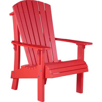 LuxCraft Poly Royal Adirondack Chair Red