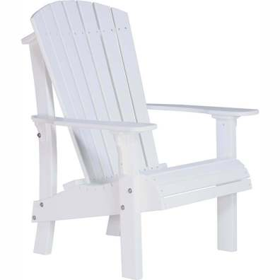 LuxCraft Poly Royal Adirondack Chair White