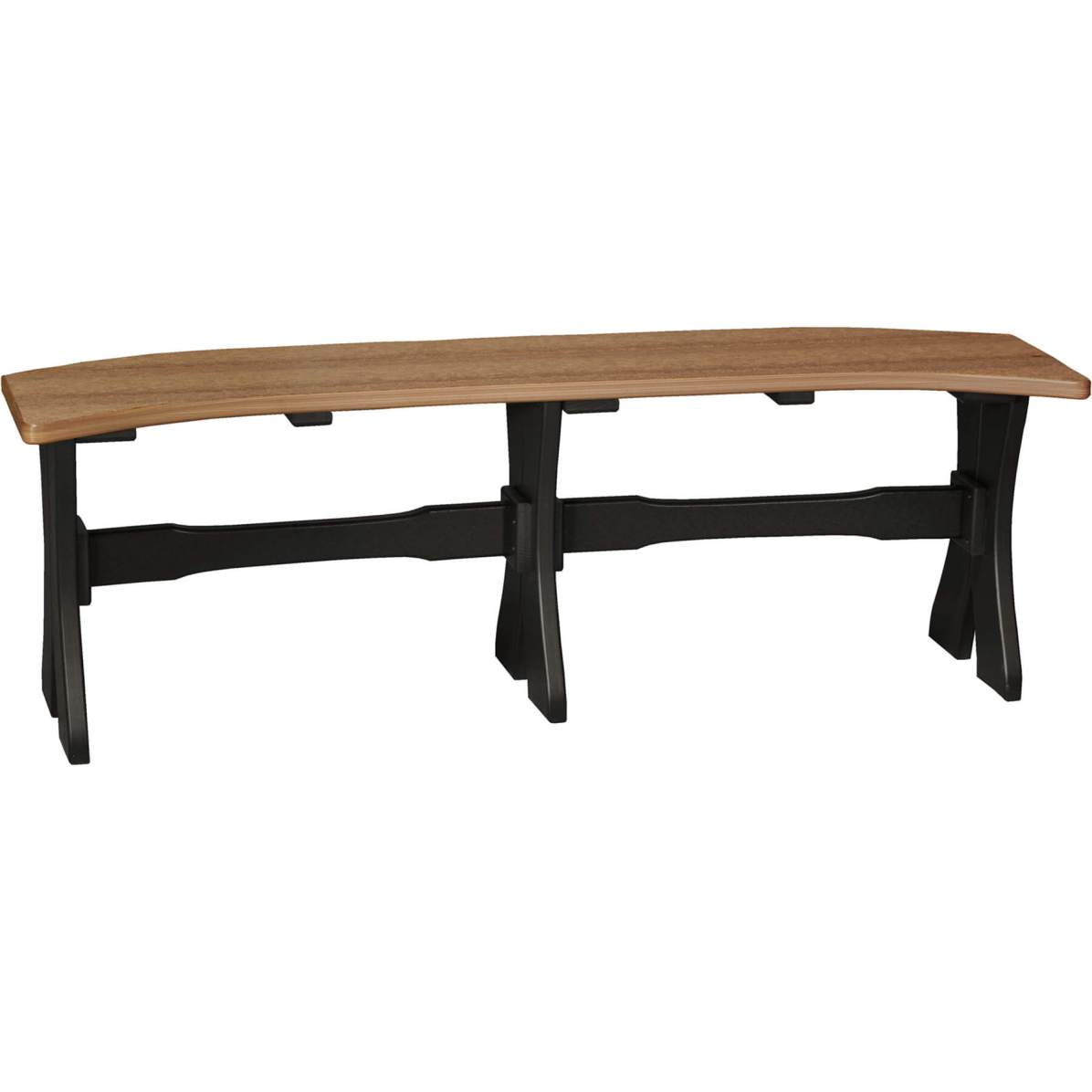 P52TBAMB Poly 52'' Table Bench (Antique Mahogany & Black)
