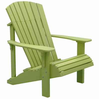 LuxCraft Poly Deluxe Adirondack Chair Lime Green