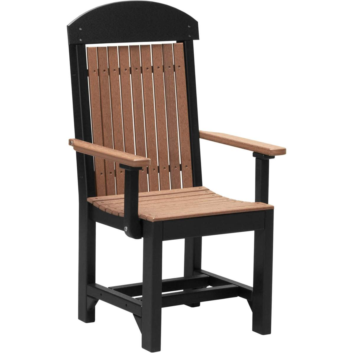 PCCDAMB Poly Captain Chair Dining Height (Antique Mahogany & Black)