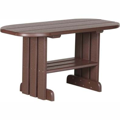 LuxCraft Poly Coffee Table Chestnut Brown