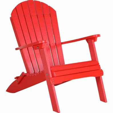 Poly Folding Adirondack Chair Red