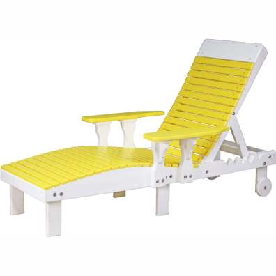 LuxCraft Poly Lounge Chair Yellow & White