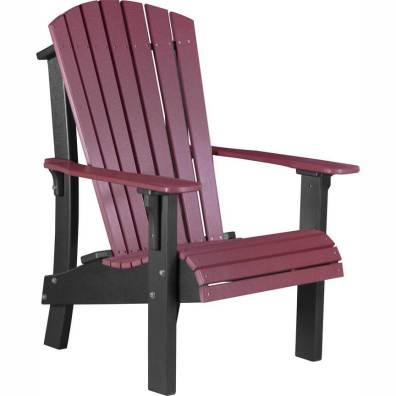 LuxCraft Poly Royal Adirondack Chair Cherrywood & Black