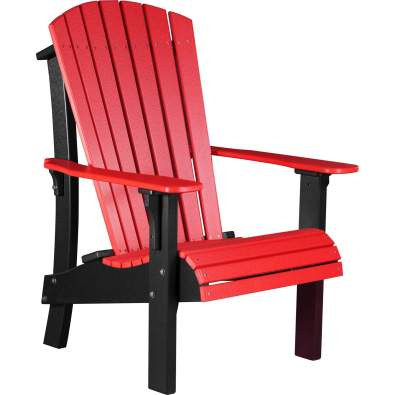 LuxCraft Poly Royal Adirondack Chair Red & Black