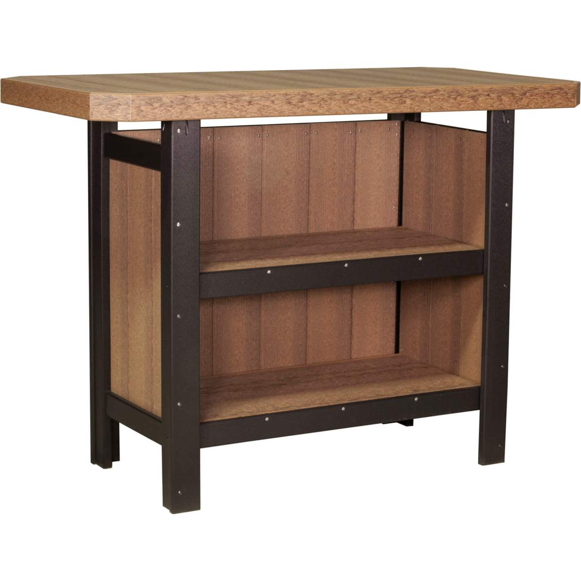 PSBAMB Poly Serving Bar (Antique Mahogany & Black)