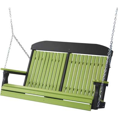 LuxCraft Poly 4' Classic Swing Lime Green & Black
