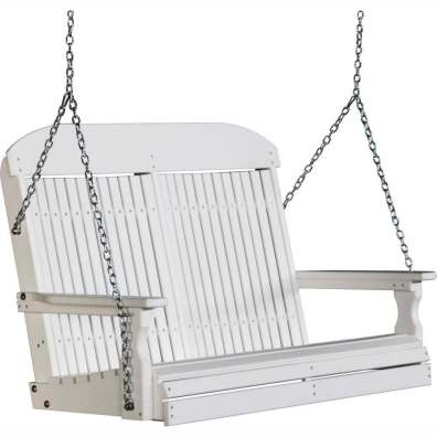 LuxCraft 4' Classic Swing White