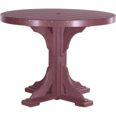 LuxCraft Poly 4' Round Table Counter Height Cherrywood