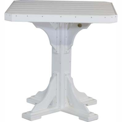 """LuxCraft Poly 41"""" Square Table Bar Height White"""