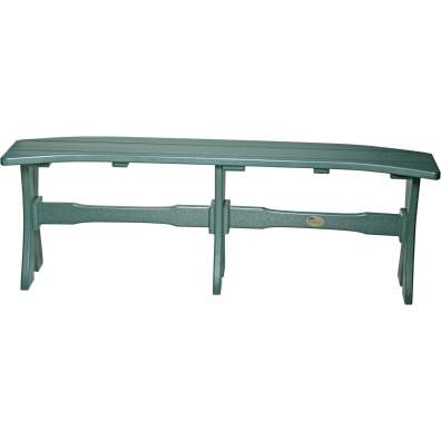 LuxCraft Poly 52'' Table Bench Green