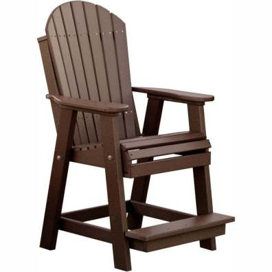 LuxCraft Poly Adirondack Balcony Chair Chestnut Brown