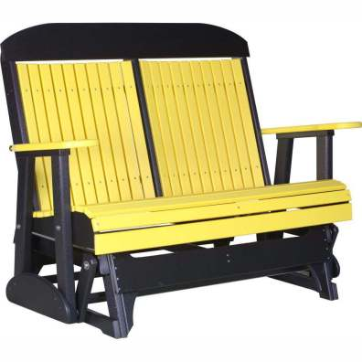 LuxCraft Poly 4' Classic Glider yellow & black