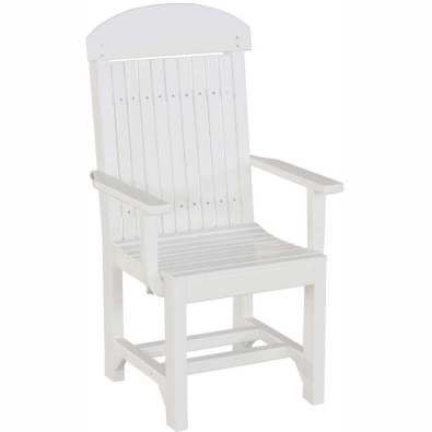 LuxCraft Poly Captain Chair (Dining Height) White