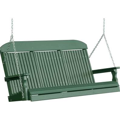 LuxCraft Poly 5' Classic Swing Green