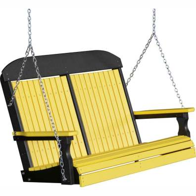 LuxCraft Poly 4' Classic Swing Yellow & Black