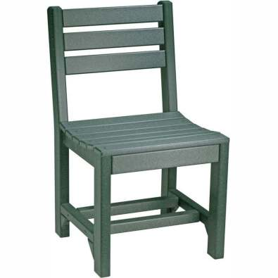 LuxCraft Poly Island Side Chair (Dining Height) Green
