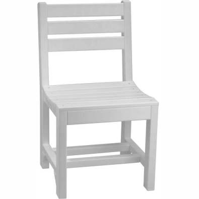 LuxCraft Poly Island Side Chair (Dining Height) White