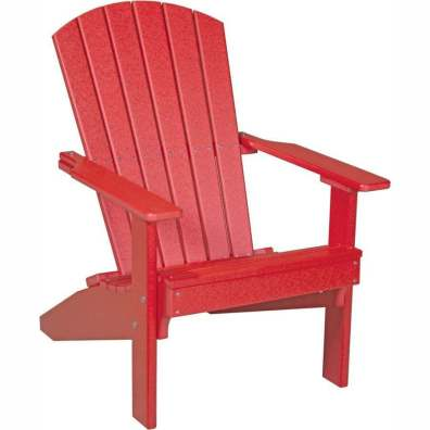 LuxCraft Poly Lakeside Adirondack Chair Red