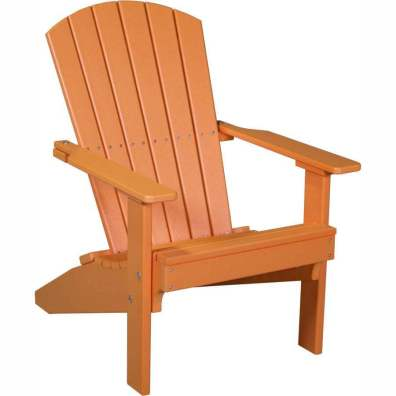 LuxCraft Poly Lakeside Adirondack Chair Tangerine