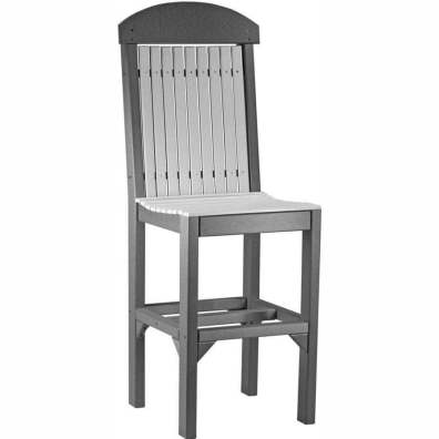 LuxCraft Poly Regular Chair (Bar Height) Dove Grey & Slate