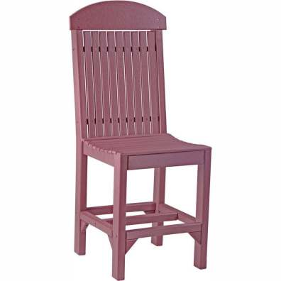 LuxCraft Poly Regular Chair (Counter Height) Cherrywood