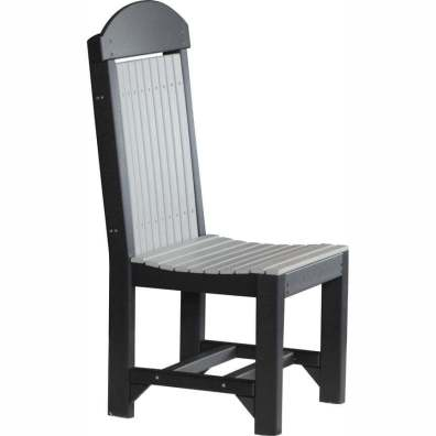LuxCraft Poly Regular Chair Dining Height Dove Grey & Black