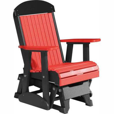 LuxCraft Poly 2' Classic Glider Red & Black