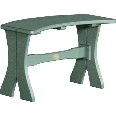 LuxCraft Poly 28'' Table Bench Green