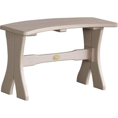 LuxCraft Poly 28'' Table Bench Weatherwood