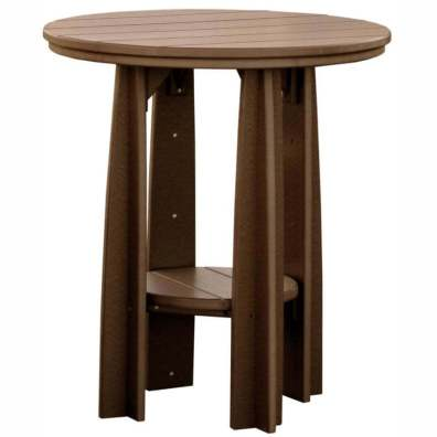 "LuxCraft Poly 36"" Balcony Table Chestnut Brown"