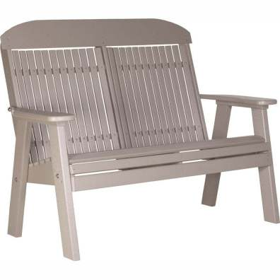 LuxCraft Poly 4' Classic Bench Weatherwood