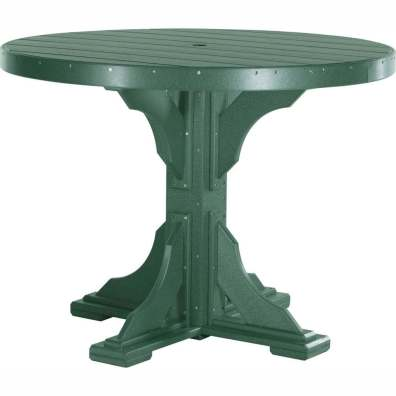 LuxCraft Poly 4' Round Table Green