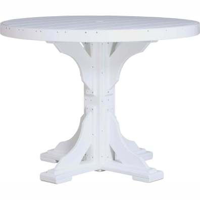 LuxCraft Poly 4' Round Table Counter Height White