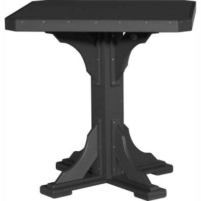 """LuxCraft Poly 41"""" Square Table Bar Height Black"""