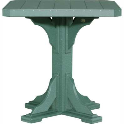 """LuxCraft Poly 41"""" Square Table Bar Height Green"""
