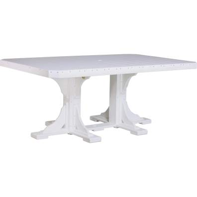 LuxCraft Poly 4x6 Rectangular Table White