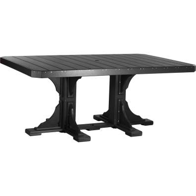 LuxCraft Poly 4x6 Rectangular Table Black