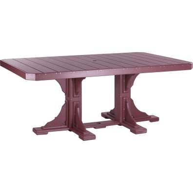 LuxCraft Poly 4x6 Rectangular Table Cherrywood